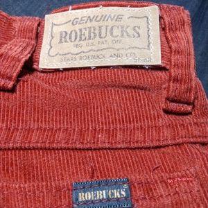 Genuine 80's vintage Roebucks corduroy pant